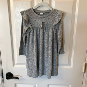 Gap Gray Ruffle Softspun Dress  - NEW 💕